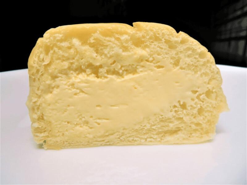 商品説明外装清水屋生クリームパン6個入りカスタード味断面図